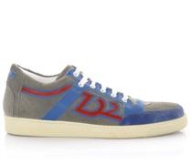Sneakers SN106 Veloursleder perforiert Leder blau