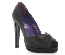 Pumps Plateau Peeptoe Satin