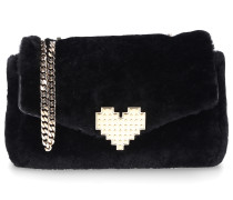 Handtasche IVY Shearling Wool Metall