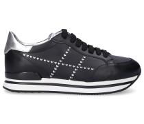 Sneaker low H222 Kalbsleder Lochmuster Logo