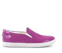 Sneaker low Kalbsleder Lackleder lila