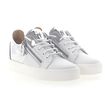 Sneaker MAY Glattleder Metallisch weiß