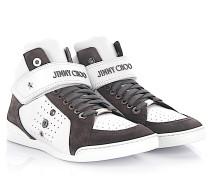 Sneaker High Lewis Leder Veloursleder grau