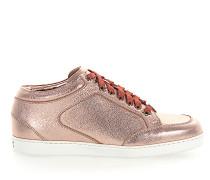 Sneaker MIAMI Leder metallic rosè