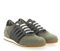 Sneaker NEW RUNNER Veloursleder Nylon grün schwarz