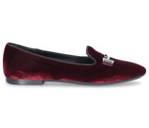 Loafer W47 Samt Metallisch bordeaux