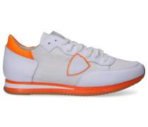 Sneaker low TROPEZ Kalbsleder Textil Logo Patch