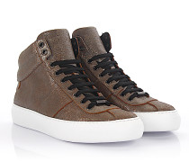 Sneaker High Belgravi Leder bronze metallic finished