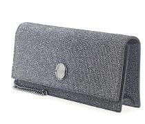 Clutch Handtasche FIE Glitzer-Lamé anthrazit