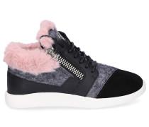 Sneaker high SINGLEG Glattleder Kaninchenfell Wolle