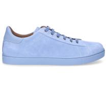 Sneaker low LOW TOP Kalbsvelours Ziernaht hell
