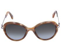 Sonnenbrille Butterfly 52 Acetat Schildkröte beige
