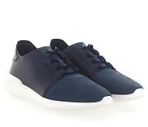Sneaker 0Y18D Glattleder Nubukleder dunkel