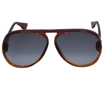 Sonnenbrille Aviator LIA Acetat braun