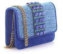 Handtasche Schultertasche SAINT-BARTH Veloursleder