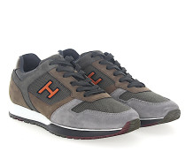 Sneaker H321 Veloursleder braun grau Mesh khaki