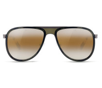 Sonnenbrille Pilotenbrille GLACIER Stahl matt grau