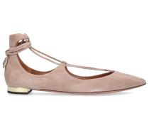 Sling-Ballerinas CHRISTY Veloursleder camel