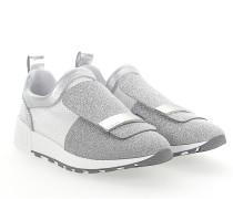 Slip-On Sneaker A80840 Stoff glitzer Mesh weiss