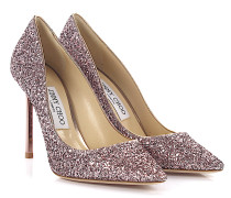 Pumps Romy 100 Stoff Glitzer rose