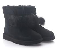 Stiefeletten Boots GITA Veloursleder Bommeln