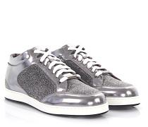 Sneaker Glattleder Kalbsleder Textil Glitzer