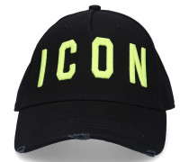 Snapback cap ICON Gabardine Logo Stickerei schwarz