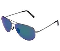 Sonnenbrille Aviator 8505 Metall Acetat Verspiegelt
