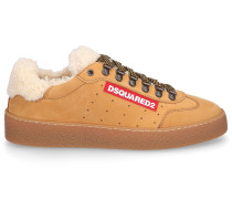 Sneaker low TED Nubukleder Logo Patch camel