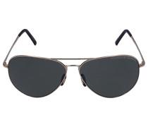 Sonnenbrille Aviator 8508 Metall gold