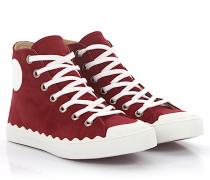Sneaker High Kyle Veloursleder bordeaux