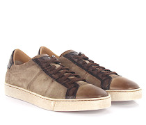 Sneaker Low 20000 Veloursleder Leder taupe finished