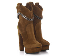 Stiefeletten Boots 1Q533E Plateau Veloursleder