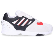 Sneaker low ZX RUN Nylon Veloursleder Logo grau rot