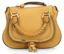 Handtasche MARCIE MINI XS Kalbsleder Logo gelb