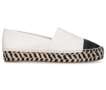 Espadrilles COLOR BLOCK Nappaleder Logo Stickerei