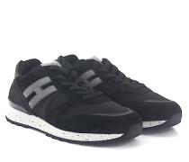 Sneaker R261 Veloursleder schwarz grau Stoff schwarz