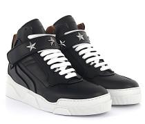 Sneaker Mid Stars Kalbsleder Sternnieten