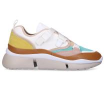 Sneaker low SONNIE Baumwolle Elastan Kalbsleder