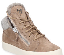 Sneaker high MAY LOND Fell Veloursleder taupe