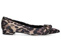 Ballerinas 2222 Satin Leo Print Metallisch leopard