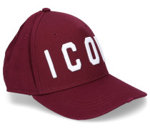 Snapback Cap ICON-PATCH Stoff bordeaux used
