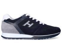 Sneaker low H321 Kalbsleder Textil Veloursleder Logo