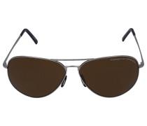 Sonnenbrille Aviator 8508 Metal silber