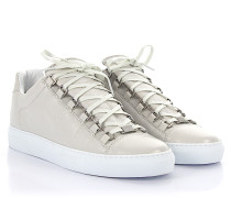 Sneaker Arena Low Leder creme geknittert
