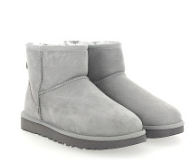 Stiefeletten Boots CLASSIC MINI 2 Veloursleder hell