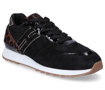 Sneaker low 2610Y Textil Veloursleder Logo leopard