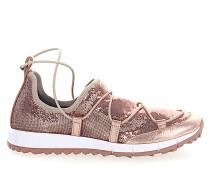 Sneaker Slip-On ANDREA Pailletten Mesh rosè Leder