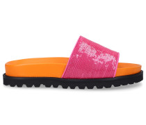 Badesandalen 28014 Gummi Pailletten orange