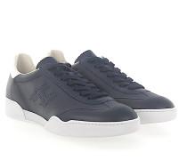 Sneaker H357 Kalbsleder Lochmuster dunkel